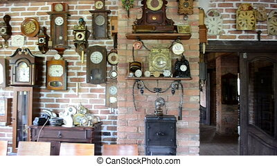 vintage clock collection - View of many vintage different...