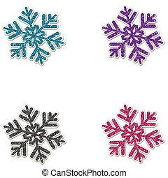 Glitter Flakes Set 2 - Glitter Snowflakes