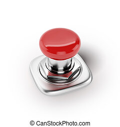 Red button. Action concept
