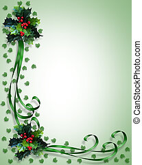 Christmas Border Frame - Image and Illustration composition...