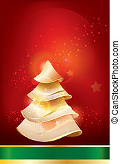 greeting card with the image of a Christmas tree