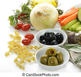 Healthy Food Ingredients On White Background