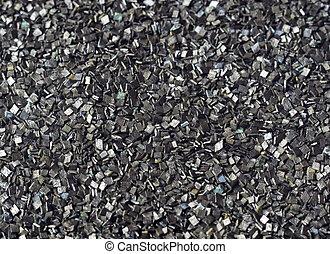 Closeup of black gunpowder of centenary prescription