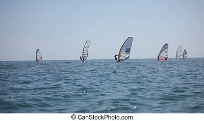 Competitions in windsurfing. Black Sea. HD1080 - 30p
