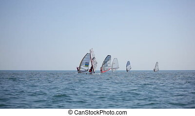 Competitions in windsurfing. Black Sea.