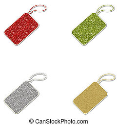 Sparkly Glitter Gift Tags