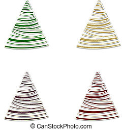 Christmas Glitter Swirly Trees - Swirly Trees