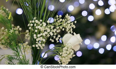 Delicate flowers - A bouquet of delicate flowers against a...