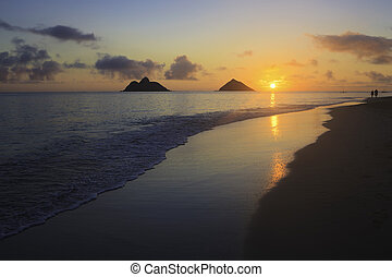 sunrise at lanikai