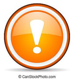 exclamación, señal, brillante, Plano de fondo, naranja,...