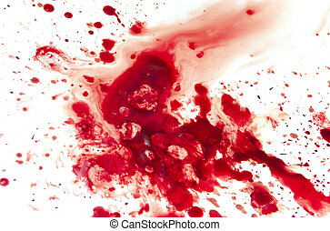 Blood - Abstract blood on white background