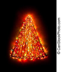 christmas tree lights shape