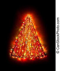 christmas tree lights shape