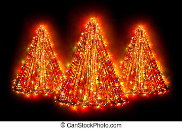 christmas tree light shapes
