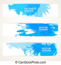 Abstract blue handdrawing banner