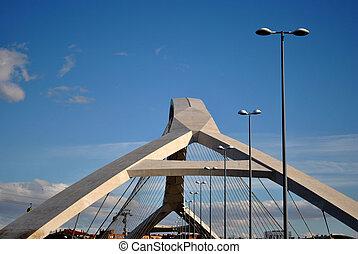 Bridge of the Expo 08 in Zaragoza