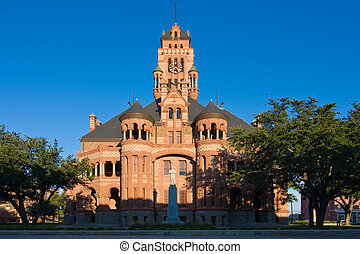 Courthouse In Waxahachie, Texas - Ellis County Courthouse...