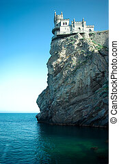 The well-known castle Swallow's Nest near Yalta in Crimea -...