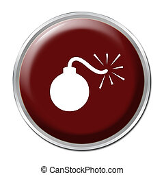 Bomb Button - Red button with a picture of a bomb
