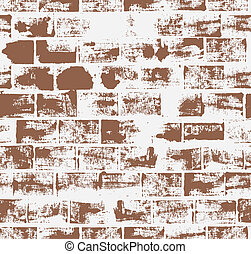 Seamless pattern with brick wall