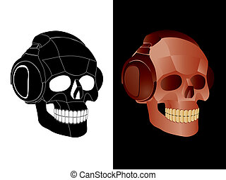 Skull  - The image of skull with headphones.
