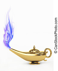 3d magic lamp - Symbol performance of desires - 3d magic...