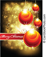 abstract shiny christmas background - abstract glossy...