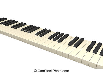 Abstract 3d piano