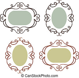 Set of simple vintage frames