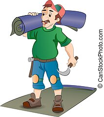 Carpet Installer, illustration - Carpet Installer, vector...