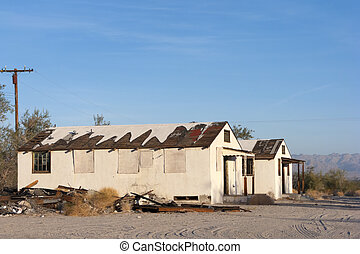 Abandoned Homes - Distressed property in gold mining town of...