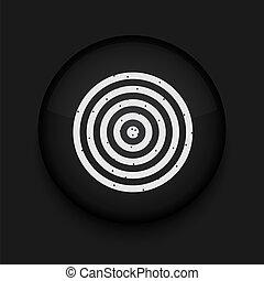 Vector darts icon. Eps10. Easy to edit