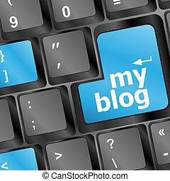 my blog sign button on keyboard