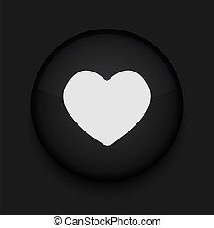 Vector heart icon. Eps10. Easy to edit