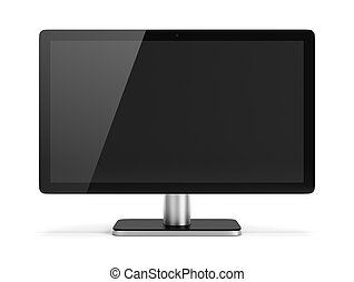 monitor - computer monitor 3d image Isolated white...