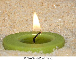 colored burning candle