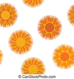 orange flowers seamless vector background