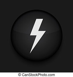 Vector  lightning icon. Eps10. Easy to edit