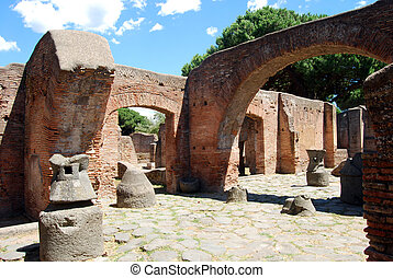 Overview of an ancient Roman domestic - An ancient Roman...
