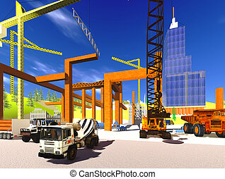 Construction site - the artwork illustration