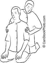 Shiatsu massage illustration