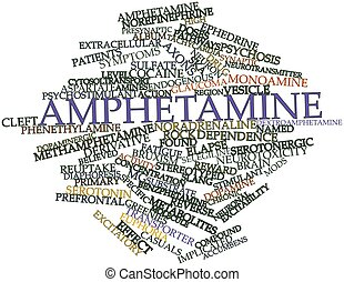 Amphetamine - Abstract word cloud for Amphetamine with...