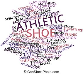Athletic shoe - Abstract word cloud for Athletic shoe with...