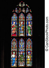 Stained glass window at Ely Cathedral