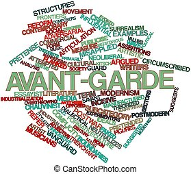 Avant-garde - Abstract word cloud for Avant-garde with...