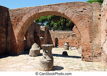 Roman ruins - Homes and shops - The discovery of an ancient...