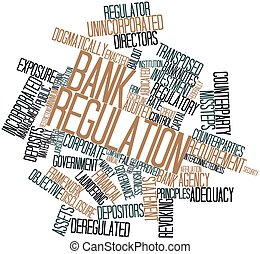 Bank regulation - Abstract word cloud for Bank regulation...