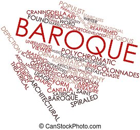Baroque - Abstract word cloud for Baroque with related tags...