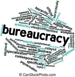 Bureaucracy - Abstract word cloud for Bureaucracy with...