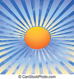 sun rays and sky - illustration of the sun rays and sky...